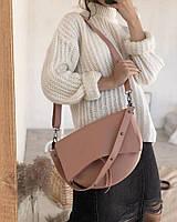 Сумка женская пудра седло пудровые сумки новинка модный с широким ремешком кроссбоди Rqf3, фото 1