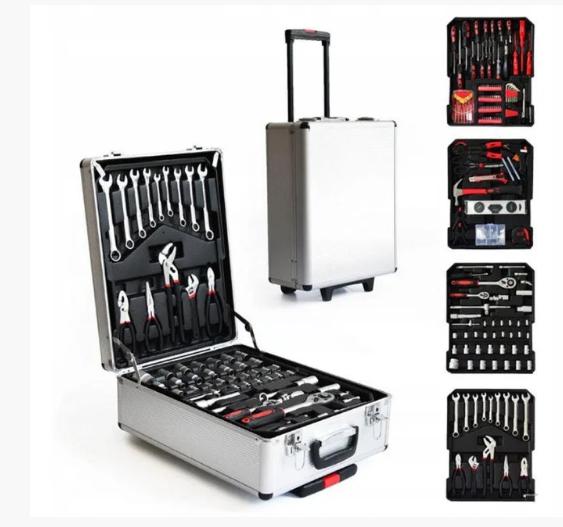 Набор инструментов в чемодане AND (186 элементов)