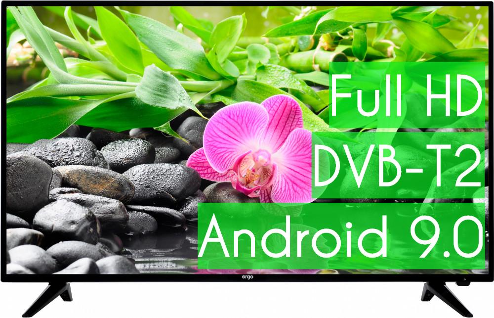 """Современный Телевизор Ergo 32"""" SmartTV (Android 9.0) + T2 ГАРАНТИЯ!"""