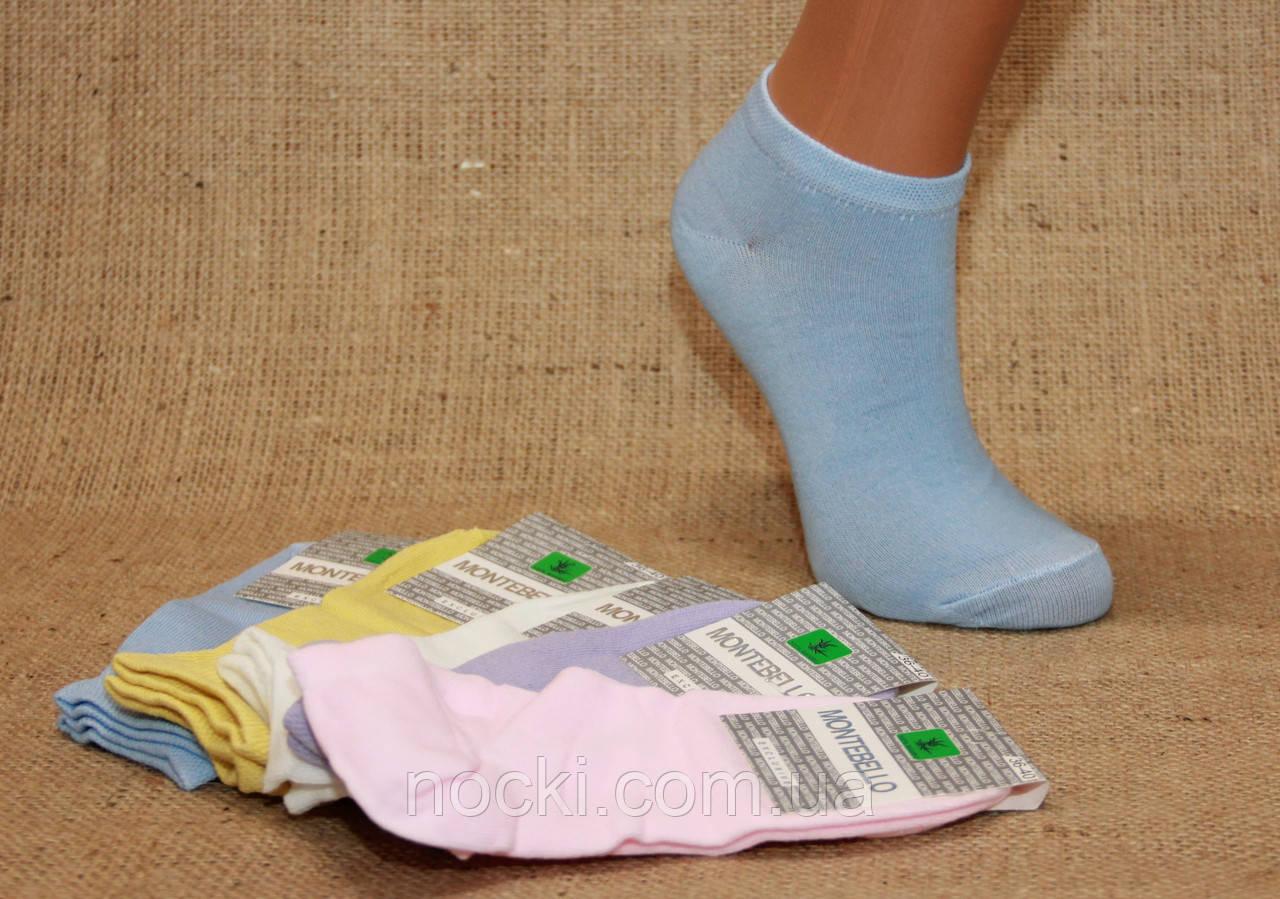 Женские носки короткие классика Ф3   пастель ассорти
