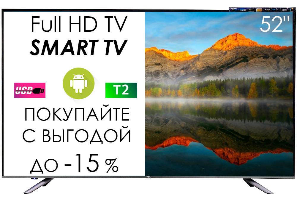"""Новинка! Телевізор JBA 52"""" I Android 7.0/Smart TV/DVB/T2/FullHD/USB"""