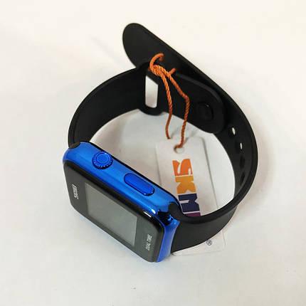 Часы наручные SKMEI с LED дисплеем. Цвет: синий, фото 2
