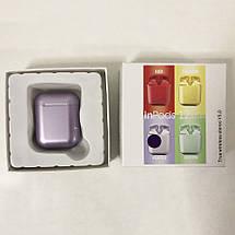 Беспроводные наушники блютуз гарнитура inPods 12 simple TWS bluetooth V5.0 сенсорные. Цвет: фиолетовый, фото 3