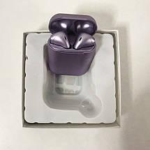 Беспроводные наушники блютуз гарнитура inPods 12 simple TWS bluetooth V5.0 сенсорные. Цвет: фиолетовый, фото 2