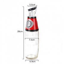 Дозатор для олії та оцту FRU-123. Колір: червоний, фото 2