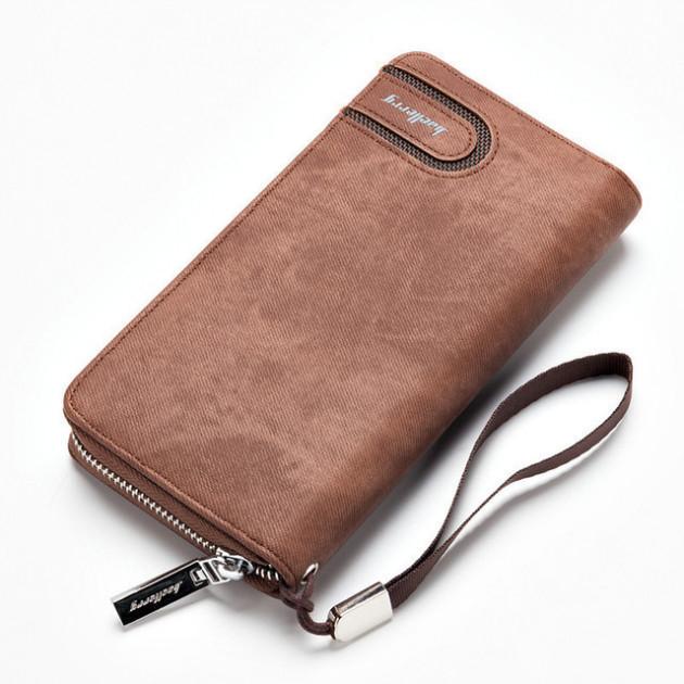 Мужское портмоне Baellerry Denim S1514. Цвет: коричневый