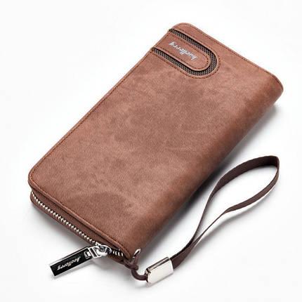 Мужское портмоне Baellerry Denim S1514. Цвет: коричневый, фото 2