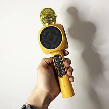Беспроводной микрофон караоке bluetooth WSTER WS-1816. Цвет: золотой, фото 3