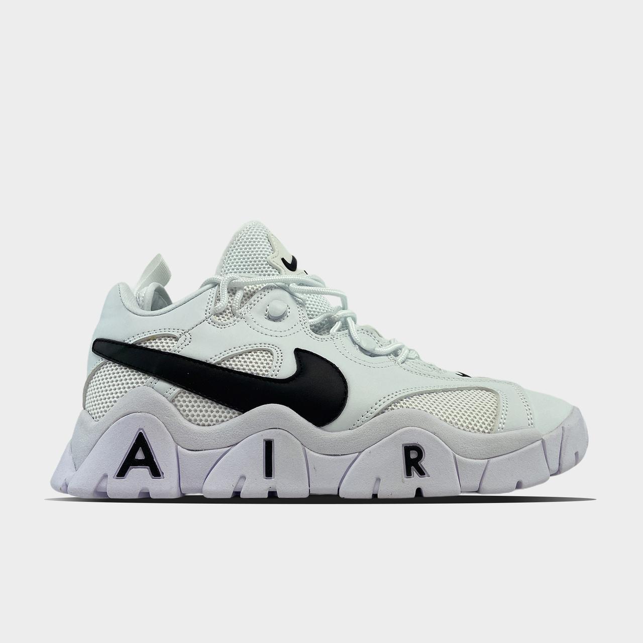 Nk, крос, обувь, взуття, sneakers, шузы, Air Barrage White Black (Белый)