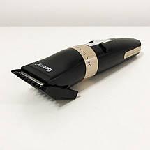 Аккумуляторная машинка для стрижки волос Gemei GM-6042. Цвет: черный, фото 3
