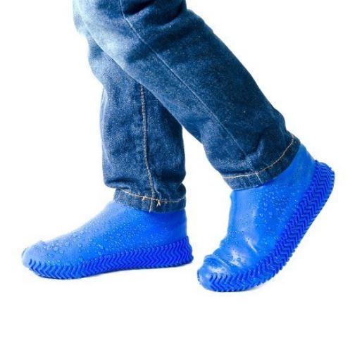 Чехлы-бахилы Синие (от дождя и грязи для любой обуви)