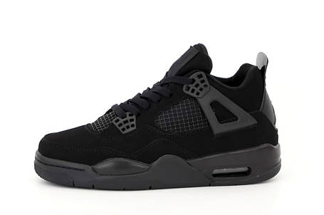 Баскетбольные кроссовки Air Jordan 4 Black, фото 2