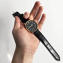 Годинники наручні Emporio Armani Black чорний ремінець (репліка), фото 2