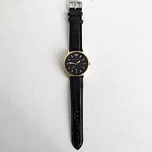 Годинники наручні Emporio Armani Black чорний ремінець (репліка), фото 3