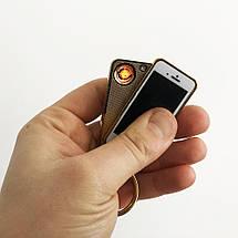USB запальничка-брелок IPhone спіраль розжарювання, фото 2