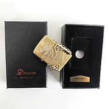 Електроімпульсна запальничка в подарунковій коробці Дракон HL-119, фото 2