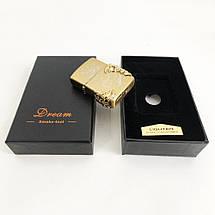 Електроімпульсна запальничка в подарунковій коробці Дракон HL-119, фото 3
