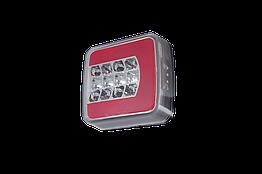 Фонарь LED задний квадратный универсальный 106 мм х 100 мм х 36 мм 12/24/36 V R