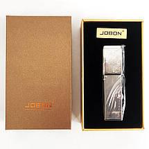 USB зажигалка в подарочной упаковке Jobon XT-4875 (Двухсторонняя спираль накаливания). Цвет: серебро, фото 3