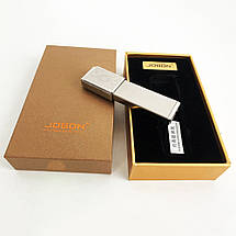 USB зажигалка в подарочной упаковке Jobon XT-4875 (Двухсторонняя спираль накаливания). Цвет: серебро, фото 2