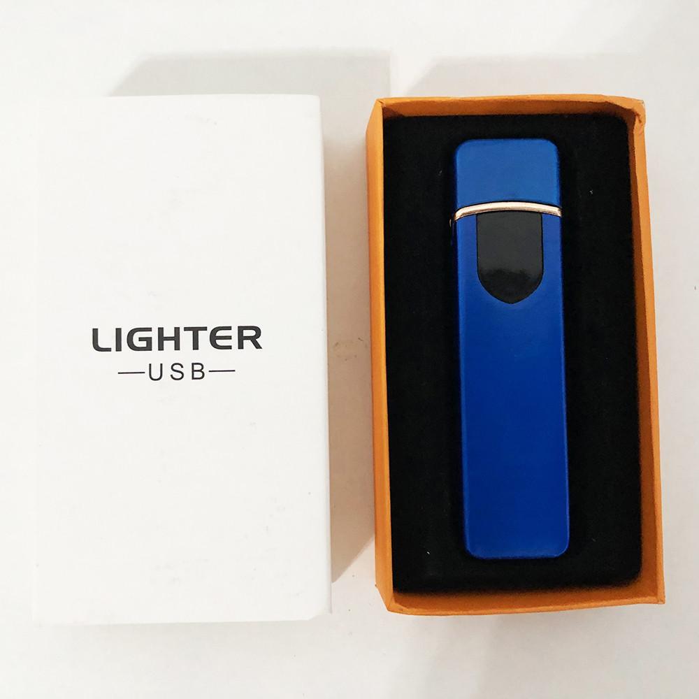 Зажигалка спиральная USB ZGP-4. Цвет: синий