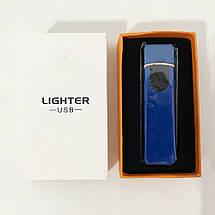 Зажигалка спиральная USB ZGP-4. Цвет: синий, фото 2
