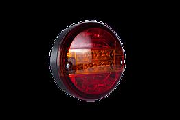 Фонарь LED задний универсальный круглый  24 В 140 мм
