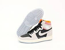 Баскетбольные кроссовки Air Jordan 1 Retro High SP19 OG Black/Gray, фото 3