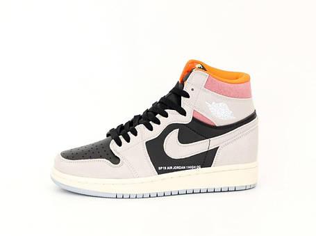 Баскетбольные кроссовки Air Jordan 1 Retro High SP19 OG Black/Gray, фото 2