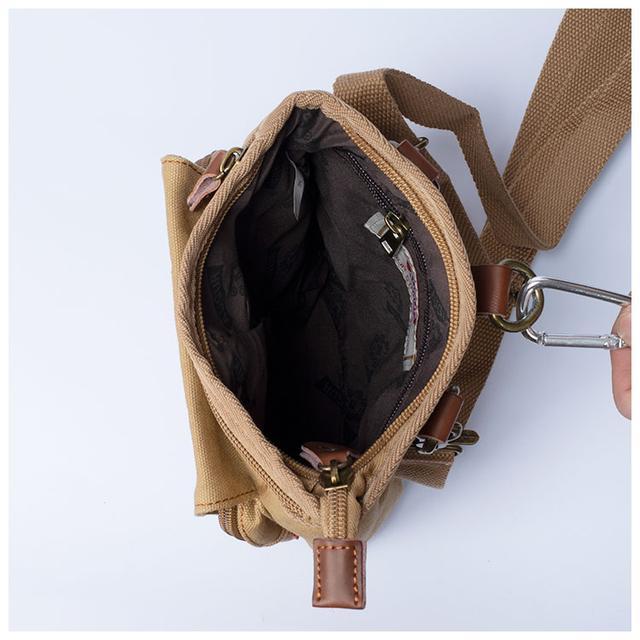 Сумка мужская брезентовая Augur фото внутреннего главного отделения