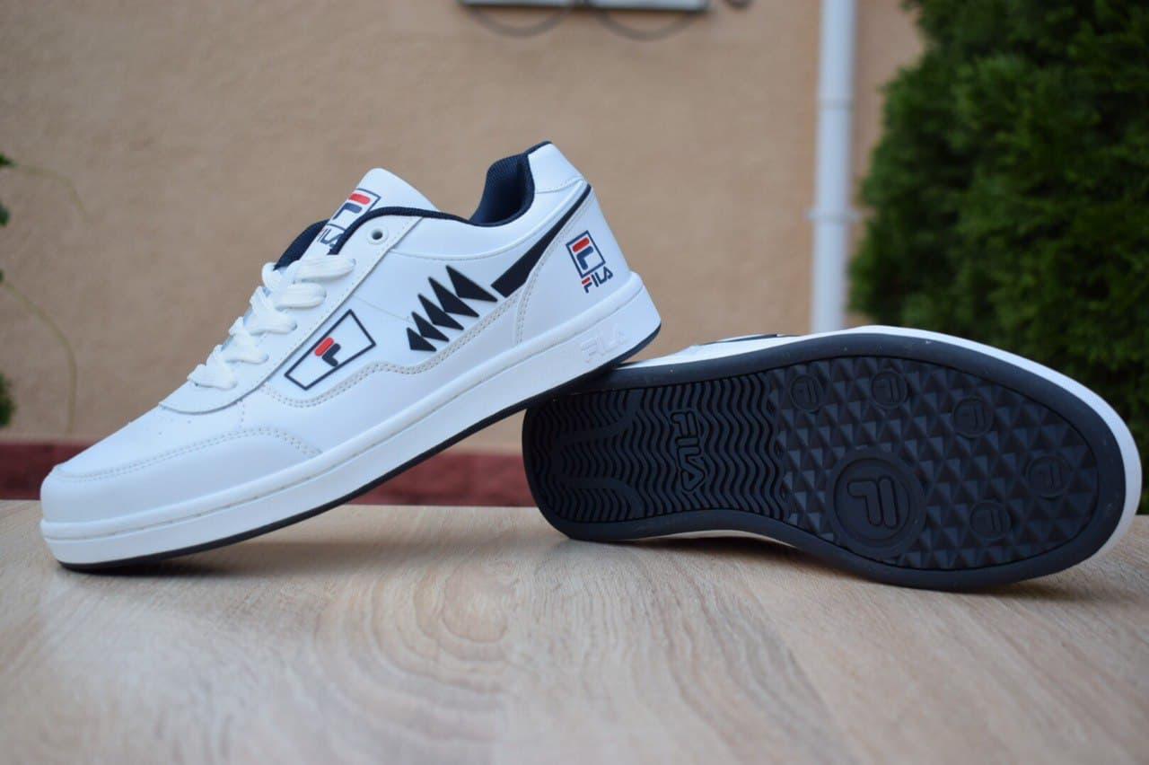 Кроссовки Fila Turismo низкие белые с синим