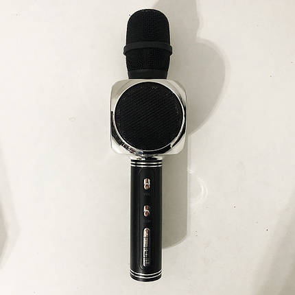 Беспроводной Bluetooth Микрофон для Караоке Микрофон DM Karaoke Y 63 + BT. Цвет: черный с серебром, фото 2