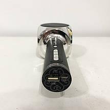 Беспроводной Bluetooth Микрофон для Караоке Микрофон DM Karaoke Y 63 + BT. Цвет: черный с серебром, фото 3