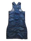 Женский джинзовый Сарафан OMAT 4446 синий, фото 2