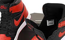 Баскетбольные кроссовки Air Jordan 1 Retro High Black/Red, фото 3