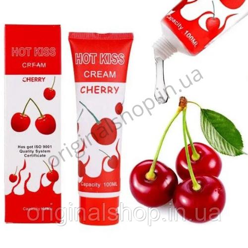 Лубрикант, Hot Kiss Горячий Поцелуй, разогревающий с ароматом вишни