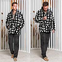 Мужская пижама, теплая мужская пижама 50-52, клетка