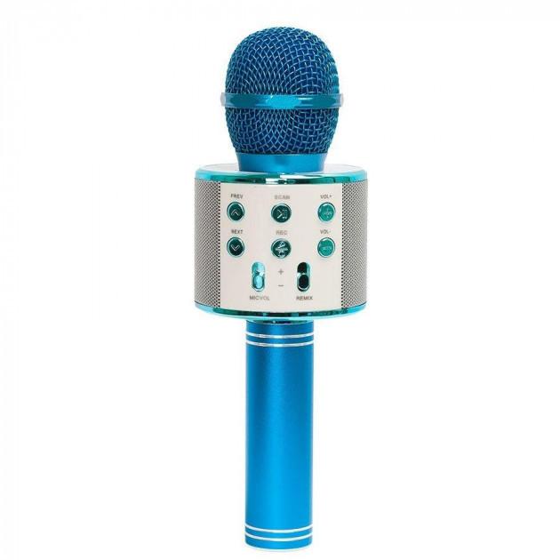 Беспроводной микрофон для караоке WS-858 WSTER BLACK. Цвет: голубой