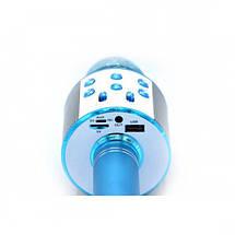 Беспроводной микрофон для караоке WS-858 WSTER BLACK. Цвет: голубой, фото 2