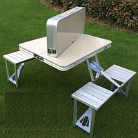 Туристический раскладной стол + 4 места