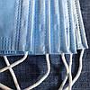 Захисні медичні тришарові маски, сині. Не шиті, паяні. Заводське виробництво. 500 шт, фото 5