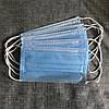 Захисні медичні тришарові маски, сині. Не шиті, паяні. Заводське виробництво. 500 шт, фото 6