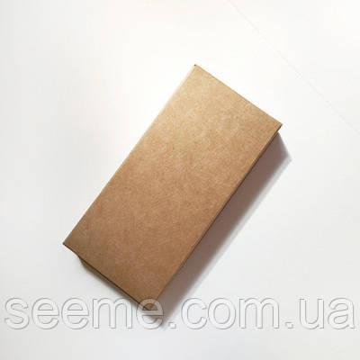 Коробка из крафт картона под шоколад 125х60х14 мм