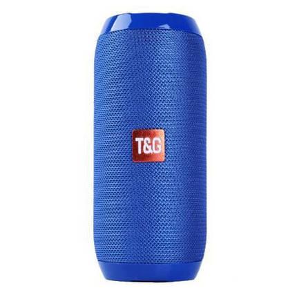 Bluetooth-колонка TG-117 портативная влагостойкая. Цвет: синий, фото 2