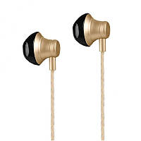 Навушники з мікрофоном Hoco M18 Goss Metal Gold
