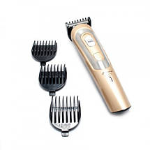 Беспроводная машинка для стрижки волос GEMEI GM-6112 аккумуляторная. Цвет: золотой, фото 2