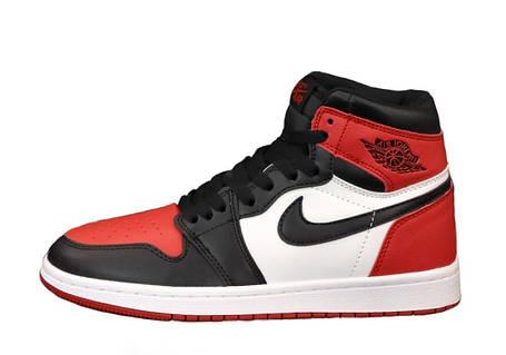 Женские баскетбольные кроссовки Air Jordan 1 Retro Hgh Black/Red/White, фото 2