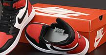 Женские баскетбольные кроссовки Air Jordan 1 Retro Hgh Black/Red/White, фото 3