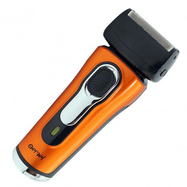 Електробритва бритва GEMEI GM-7110. Колір: помаранчевий