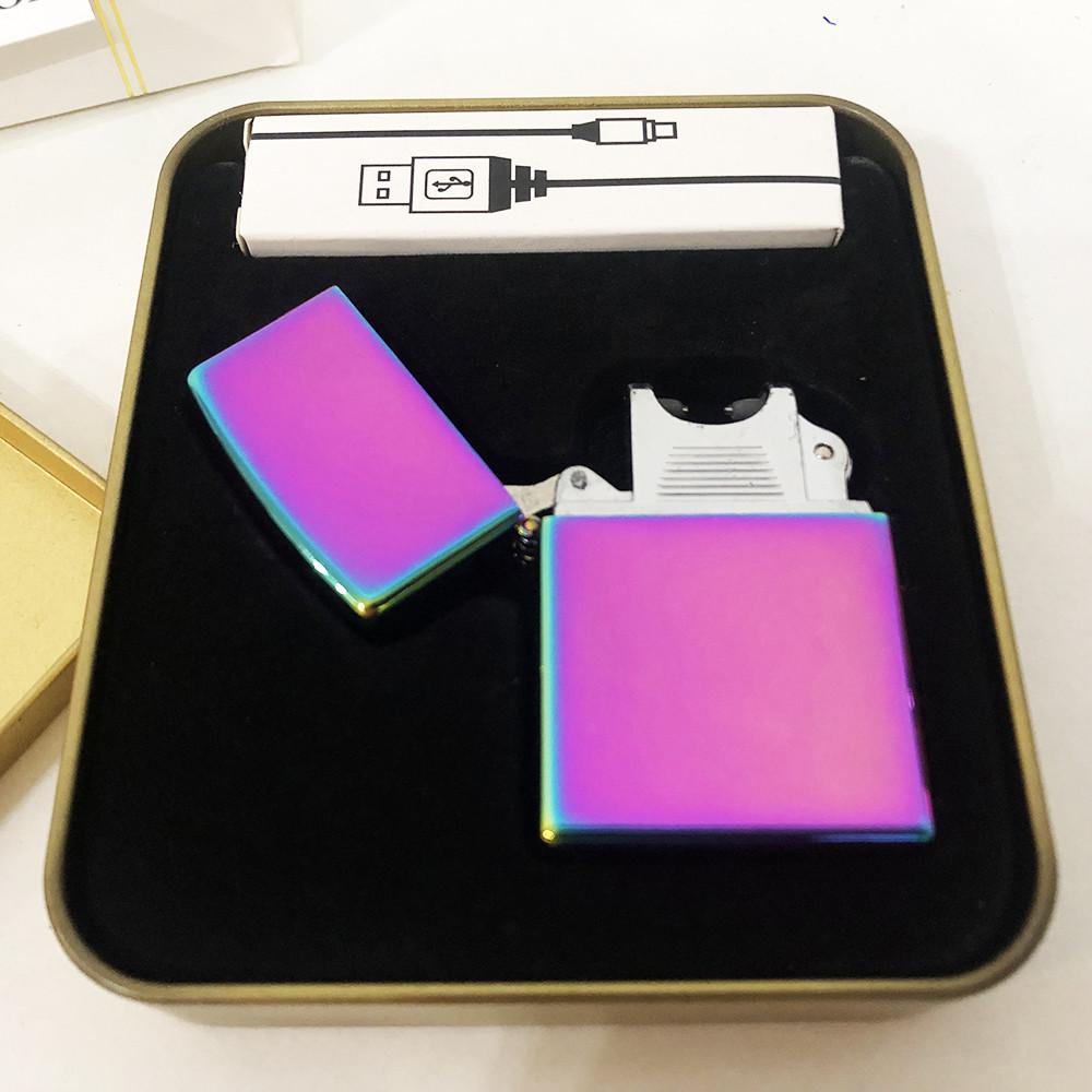 Зажигалка импульсная NB USB-215. Цвет: фиолетовый